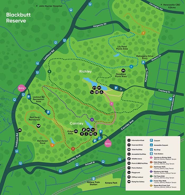 View the Blackbutt Reserve map