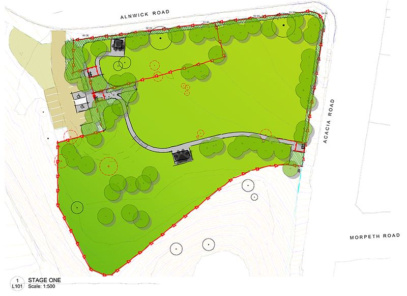 Stage One plan for Acacia Avenue Reserve