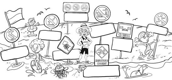 water safety coloring pages - water safety city of newcastle