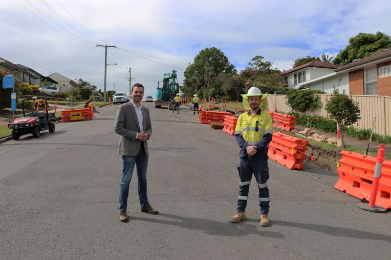 Deputy Lord Mayor Declan Clausen and Civil Field Worker Tarryn Collison-Marsh, who began his career at City of Newcastle as an apprentice.