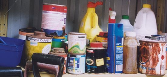 New households drop off unwanted chemicals