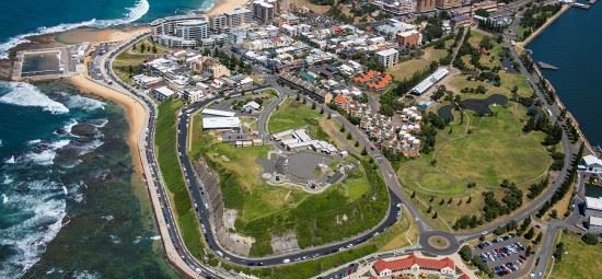 Foreshore access during Supercars preparation
