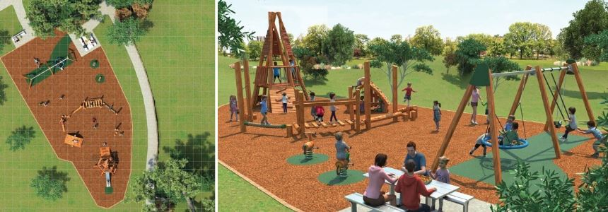 Cressington Way Reserve Wallsend Playground Concept