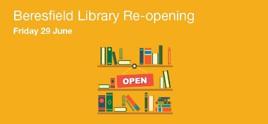 Beresfield Library Re-Opening June 29