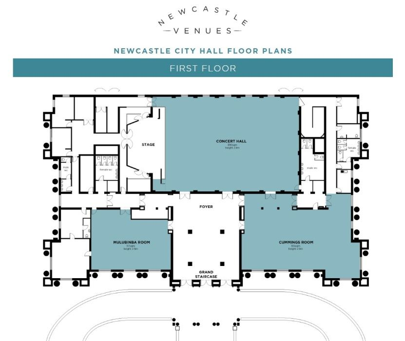 Newcastle City Hall  First Floor Floor Plan