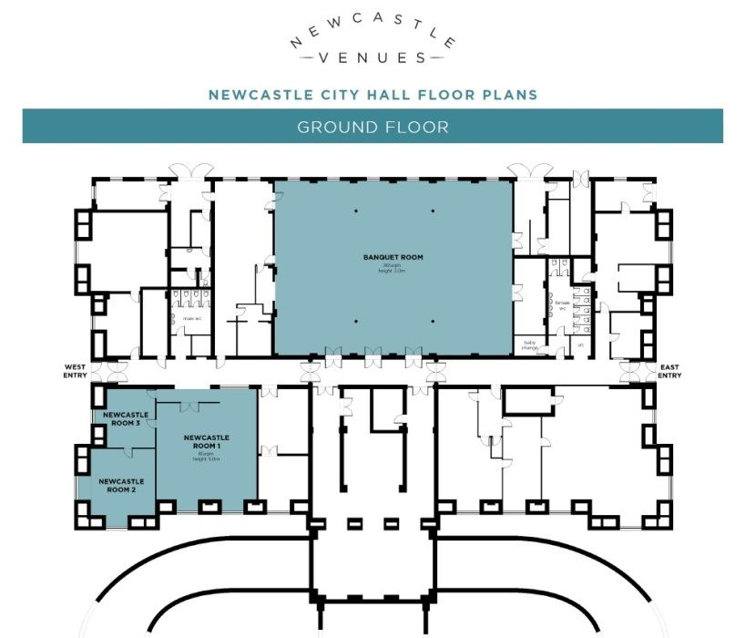 Newcastle City Hall Ground Floor Floor Plan