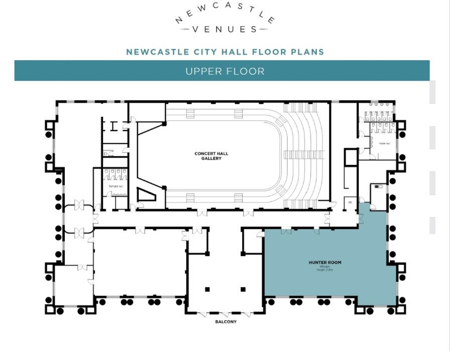 Newcastle City Hall Upper Floor Floor Plan