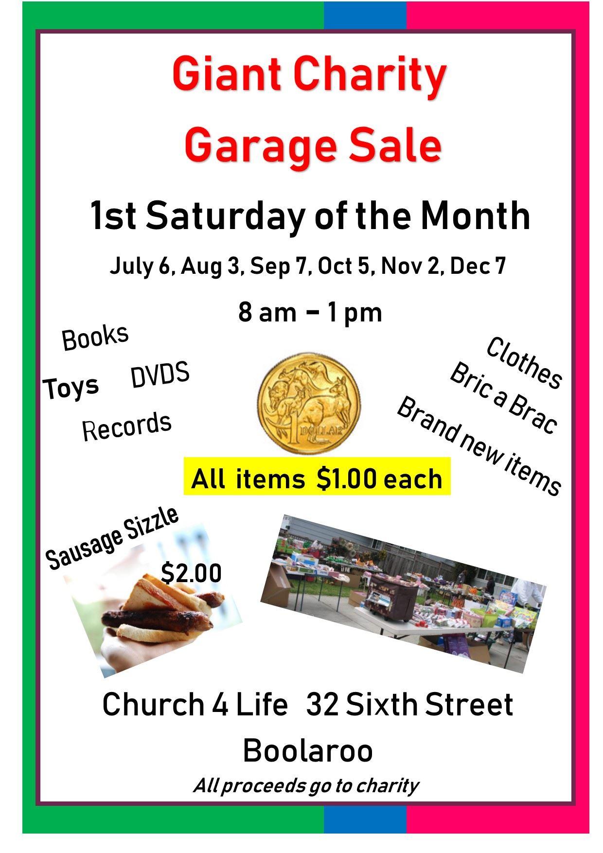 9fdb19fea96 Giant Charity Garage Sale - City of Newcastle