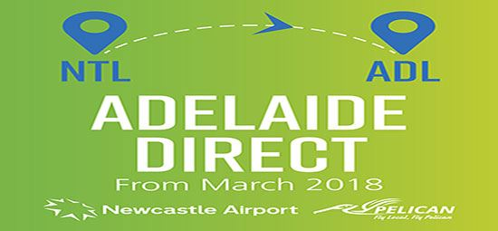 New flights from Newcastle to Adelaide