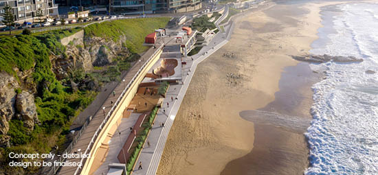New concept plans for Newcastle Beach