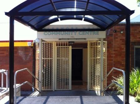 Front entrace to Elermore Vale Community Centre