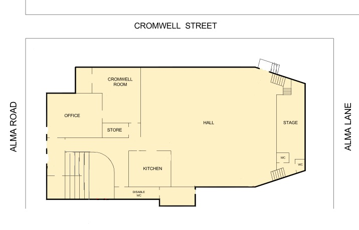 Floor plan of ground floor of New Lambton Community Centre