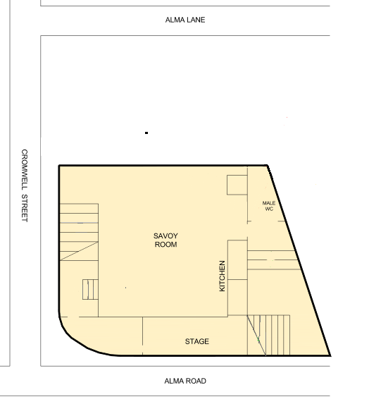Floorplan of upper level of New Lambton Community Centre