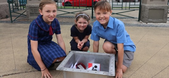 Lambton kids link centuries through time capsule